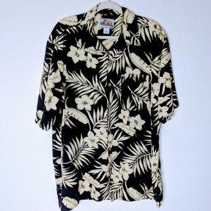 Paradise Coves silk Hawaiian shirt. Sz XL